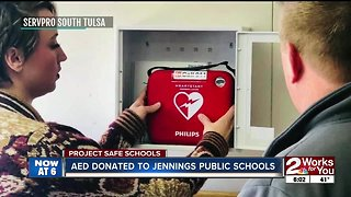 AED donated to Jennings Public Schools