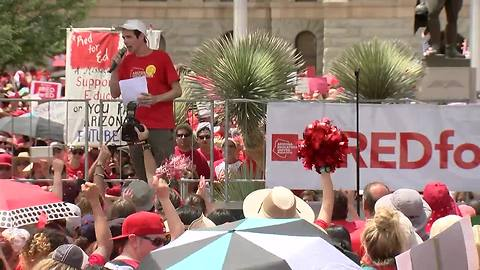 VIDEO: Red for Ed leaders speak at the Arizona capitol Thursday