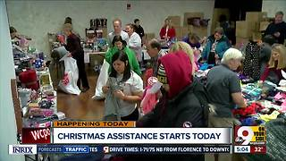 Salvation Army's Christmas assistance begins Thursday - Video