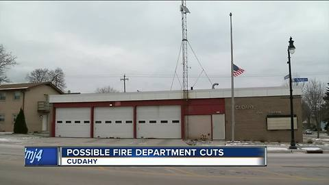 Cuts possible at Cudahy Fire Department