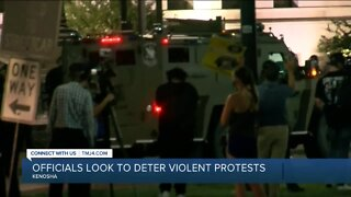 County officials look to deter violent protests in Kenosha