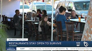 San Diego restaurants stay open to survive despite health orders