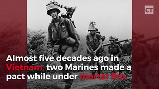 Marine Vets Keep Promise They Made 49 Years Ago - Video