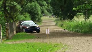BMW hits fence during Lithuanian rally stage - Video