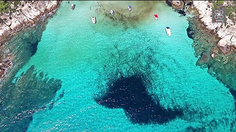 Drone Captures Greek Island's Hidden Gem