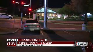 Pedestrian hit and killed near Sahara and 6th - Video