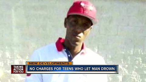 Teens who laughed, recorded Florida man's drowning death and did nothing, won't be charged