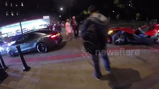 Three wheeled supercar spotted in Mayfair, London - Video