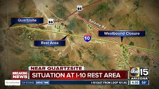 Westbound I-10 closed in western Arizona for police situation, DPS says - Video