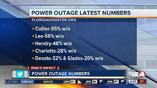 55% of Collier County still without power - Video