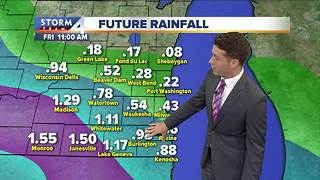 Scattered showers throughout the day Thursday