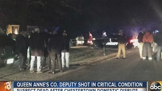 Queen Anne's County sheriff's deputy shot in altercation with suspect - Video