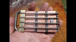 BASS GUITAR Belt buckle!!! RT ARTISAN WORKS!