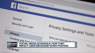 Social media scandals affect users posts