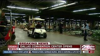 Dallas Convention Center opens for Houston evacuees - Video