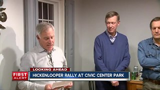 John Hickenlooper has permit for Civic Center Park this week
