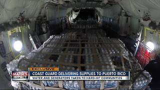 Coast Guard delivering supplies to Puerto Rico - Video