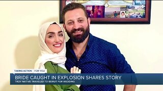 Bride in viral Beirut blast video is a Doctor from Troy now struggling to return home