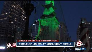 Downtown Indy prepares for Circle of Lights celebration - Video