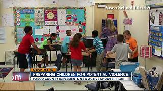 Middle schooler helps to teach Pasco students new active shooter plan - Video