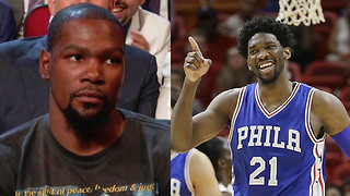 Kevin Durant Gets SAVAGELY Trolled by Joel Embiid for Using Burner Accounts - Video