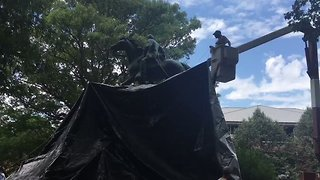 Charlottesville Confederate Statues Shrouded in Black as City Mourns - Video