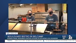 "Boulevard Bistro in Belcamp says ""We're Open Baltimore!"""