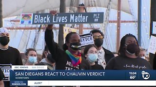 San Diegans react to Chauvin verdict