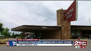 Sequoyah State Park campground & golf course - Video
