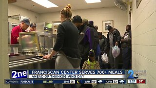 Franciscan Center serves more than 700 meals ahead of Thanksgiving Day