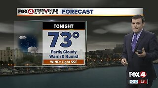 Forecast: Sunday will start out warm and humid and finish with inland storms.