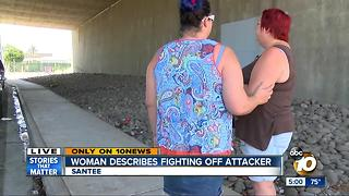 Woman describes fighting off attacker - Video