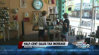 Half-cent sales tax begins tomorrow