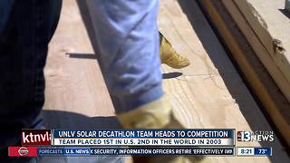 UNLV SOLAR DECATHLON TEAM HEADS TO COMPETITION - Video