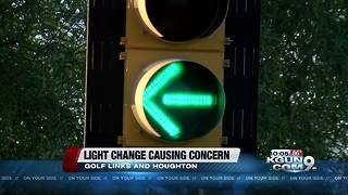 Traffic light change at east side intersection causing some folks a problem