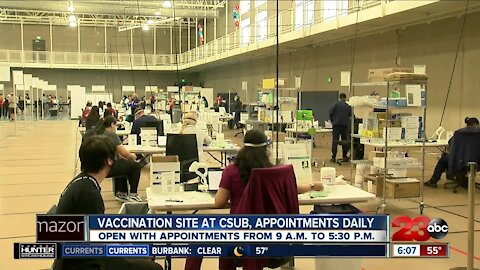 California State University Bakersfield opens up campus to serve as vaccination site