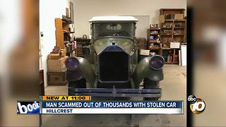 Man learns antique car he bought was stolen - Video