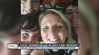 Local woman killed in golf cart accident - Video