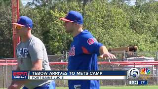 Tim Tebow reports to Mets camp - Video