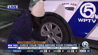 Check your tire pressure on these cold mornings