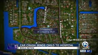Car crash sends child to hospital