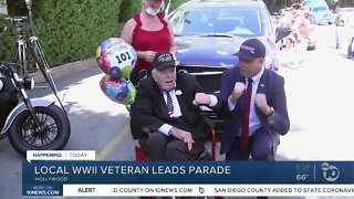 San Diego WWII veteran leads Hollywood parade