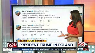 President Trump in Poland - Video