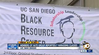 Hate group members reportedly harassing UC San Diego classrooms - Video