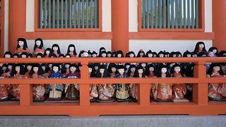 Incredible Japanese shrine which has over one thousand dolls