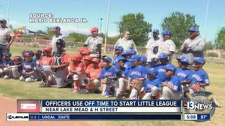 Officers use off time to start Little League - Video