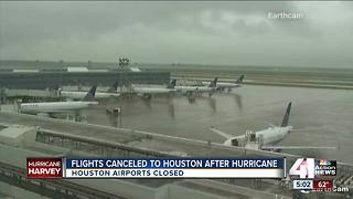 Flights canceled to Houston in wake of Hurricane Harvey - Video