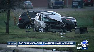 Denver police chief apologizes for comments on scene of hit and run crash - Video