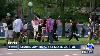 4 arrested after March Against Sharia in Denver - Video