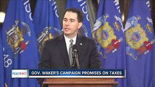 PolitiFact: Gov. Walker's promises on taxes - Video